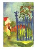 Garden Gate Poster by Auguste Macke