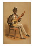 Black Banjo Player Posters