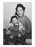 Mitsu Nakai and Baby Print by Ansel Adams