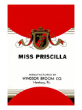 Miss Priscilla Broom Label Posters