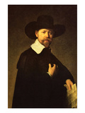 Portrait of Businessman Martin Looten Prints by  Rembrandt van Rijn