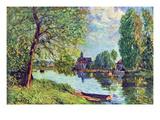 River Landscape at Moret-Sur-Loing Prints by Alfred Sisley