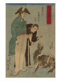 Russians and Sheep (Roshiyajin Shirasha Yo No Zu) Art by Sadahide Utagawa