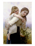 Not Too Much to Carry Láminas por William Adolphe Bouguereau