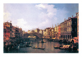 The Rialto Bridge Premium Giclee Print by  Canaletto