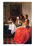 Girl with a Wine Glass Láminas por Johannes Vermeer