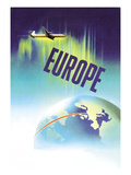 Europe by Air Prints by P. Ewart