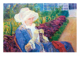 Lydia in the Garden of Marly Premium Giclee Print by Mary Cassatt