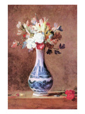 Still Life of Flowers in a Vase Premium Giclee Print by Jean-Baptiste Simeon Chardin
