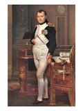 Portrait of Napoleon in His Work Room Affiches par Jacques-Louis David