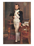 Portrait of Napoleon in His Work Room Prints by Jacques-Louis David
