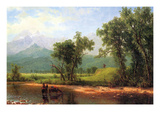 Wind River Mountains, Landscape in Wyoming Posters by Albert Bierstadt