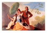 The Umbrellas Prints by Francisco de Goya