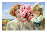 Summer Offering Print by Sir Lawrence Alma-Tadema