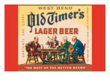 West Bend Old Timer's Lager Beer Poster