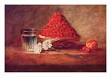 Still Life of a Strawberry Basket Prints by Jean-Baptiste Simeon Chardin