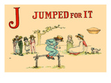 J - Jumped for It Prints by Kate Greenaway