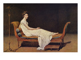 Portrait of Madame Récamier Premium Giclee Print by Jacques-Louis David