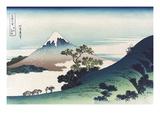 Inumi Pass in the Kai Province Premium Giclee-trykk av Katsushika Hokusai