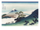 Inumi Pass in the Kai Province Affiches van Katsushika Hokusai