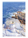 Southern Rock Riffs, Appledore Print by Childe Hassam