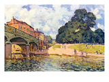 Bridge on Hampton Court Posters by Alfred Sisley