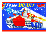 Space Missile Tank Prints