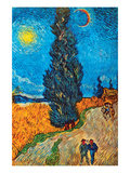 Road with Cypresses Poster by Vincent van Gogh