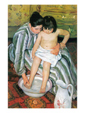 The Bath Print by Mary Cassatt