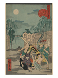 Porters Drop a Man Being Carried in a Sedan Chair Posters by Ando Hiroshige