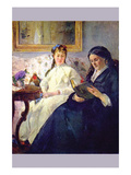 Mother and Sister of the Artist Prints by Berthe Morisot