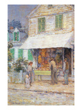 Provincial Town Art by Childe Hassam