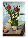 The Vase of Tulips, c. 1890 Prints by Paul Cézanne