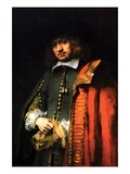 Portrait of Jan Six Print by  Rembrandt van Rijn