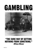 Gambling Print by Wilbur Pierce