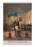 Symbols - Washington as a Free Mason Premium Giclee Print by  Strobridge & Gerlach