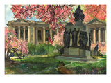 Phila Free Library Print by Noel Miles