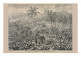 Battle of La Quasina. Near Santiago De Cuba Prints