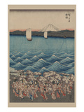 Opening Celebration of Benzaiten Shrine at Enoshima in Soshu Posters by Ando Hiroshige