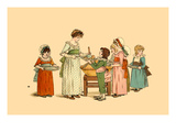 Everyone Gets a Slice Art by Kate Greenaway
