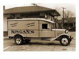 "Kingan's ""Reliable"" Pork-Beef Dairy Products Delivery Truck Prints"