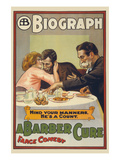 A Barber Cure Print by  Otis Lithograph Co