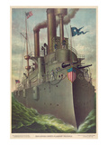 "Rear Admiral Dewey's Flagship ""Olympia"" Premium Giclee Print"