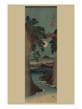 Saruhashi Bridge in Kai Province. Poster par Ando Hiroshige