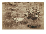 Tallyho Coaching. Sioux City Party Coaching at the Great Hot Springs of Dakota Prints by John C.H. Grabill