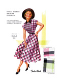 Timely Tucked Gingham Art by  Fashion Frocks