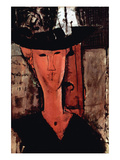 Lady with Hat Prints by Amedeo Modigliani