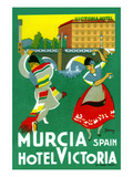 Murcia Hotel - Valencia Spain Print by Garay