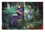 In the Garden Prints by Berthe Morisot
