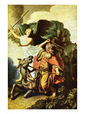 Prophet Balaam and the Donkey Prints by  Rembrandt van Rijn